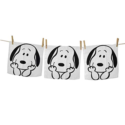 Yynn Cartoon Snoopy Toallas de mano – Toallas cuadradas...