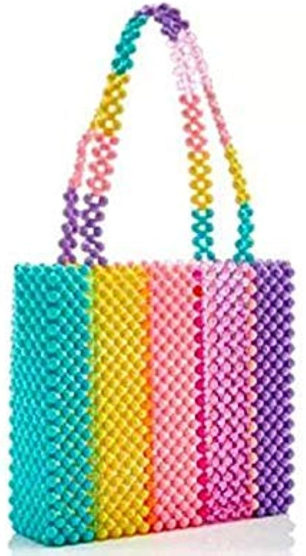 Bloomerang Pearls Bag Beaded Vintage Acrylic Box Totes Women Evening Party Small Flap Handbag 2019 Summer Luxury Brand color 09