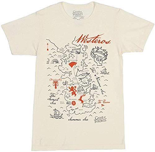 Game of Thrones Map of Westeros Graphic T-Shirt | M