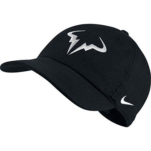 Nike Mens Aerobill Rafa Nadal H86 Tennis Hat Black/White 850666-010