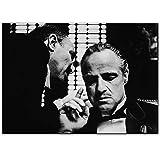 N / A Pate Poster Marlon Brando Druck Schwarzweiß Filme
