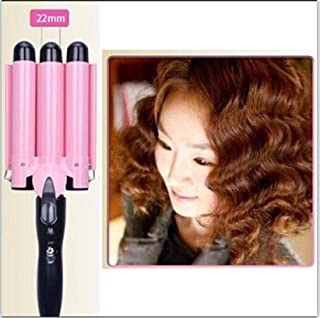Shoppy Star:3 Barrels Big Wave Hair Curling Iron Automatic Perm Splint Ceramic Hair Curler Hair Waver Curlers Rollers Styling Tools ET-76 : 22mm