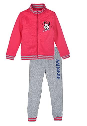 Sun City Minnie Mouse Jogging-Anzug Sweat-Jacke mit Jogging-Hose Trainings-Anzug, Farbe:Pink, Größe:104