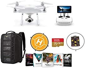 $2164 » DJI Phantom 4 Pro+ V2.0 Quadcopter Drone with 5.5-inch FHD Screen Remote Controller - Bundle with 128GB MicroSDXC Card, Lowepro DroneGuard Backpack, Landing Pad, Firehouse ARC White Strobe, Software