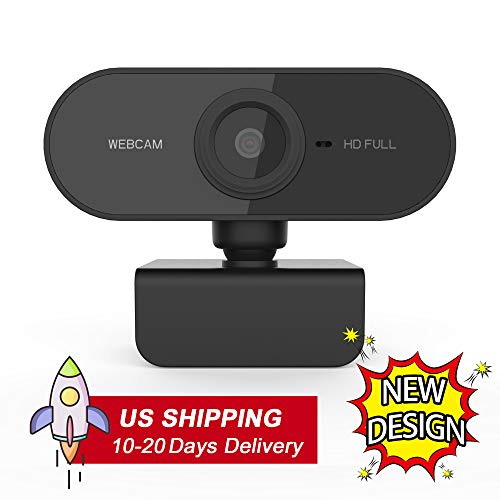 Jayol 1080P HD Pro Webcam with Microphone, PC Desktop USB Webcams, Streaming Computer Camera for Video Calling, Recording, Conferencing, Gaming, 110° Widescreen Web Camera with 360° Rotatable Clip