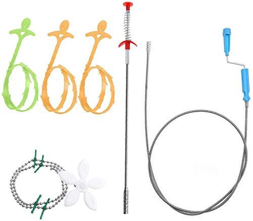 7 unidades de desagüe para desagües de Aifuda, herramienta de limpieza para tubería excavadora de desagüe, en cocina, baño, bañera, inodoro, desagüe de suelo