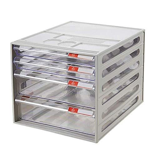 Archivadores Archivo pequeños armarios White Label cajones Diferentes artículos Anti-Off Hebilla de plástico (26X34X24CM) Caja de Archivo