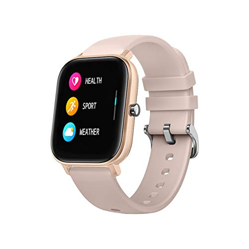 1,4 Inch Smart Watch Mannen Vrouwen Full Touch Fitness Tracker Bloeddruk Smart Clock Gts Smartwatch Voor Andriod Ios Rose goud