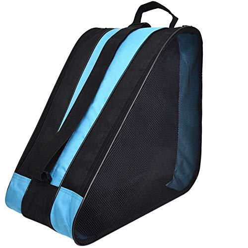 LINVINC Multifuncional Bolsa para Patines - Tela Oxford Impermeable Bolsa para Patines de Hielo y Patines de Linea, Azul, 39 * 20 * 38cm