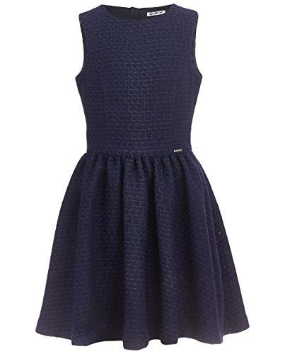 GULLIVER Mädchen Kleid Kleider Mädchen Tweed Blau Ärmellos Mittellang A Linie Tailliert 11 14 Jahre 146 152 cm 158 164 cm