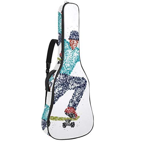 Bolsa para bajo eléctrico bolsa de concierto mochila acolchada funda de guitarra...