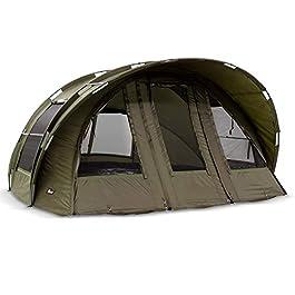 Lucx Tente de pêche Leopard XXL Vert Olive Longueur 340 cm Largeur 350 cm Hauteur 182 cm