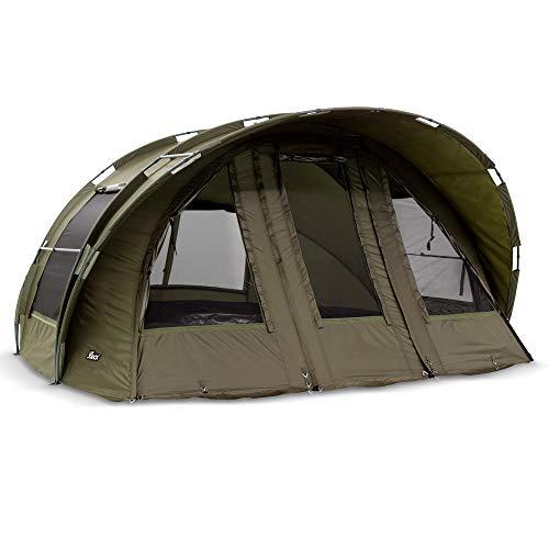 Lucx® Leopard XXL Bivvy Angelzelt 2, 3 oder 4 Personen Karpfenzelt 2, 3, 4 Mann Anglerzelt Carp Dome Fishing Tent 10.000mm