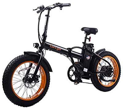 Lets Go 48V500W12AH Adult Step-Over Fat Tire Folding Electric Bicycle Beach Cruiser E-Bike Mountain Bike(Black)