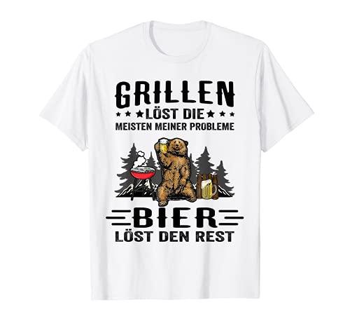 Bier Grillen löst die Meisten meiner Probleme Camping Grill T-Shirt