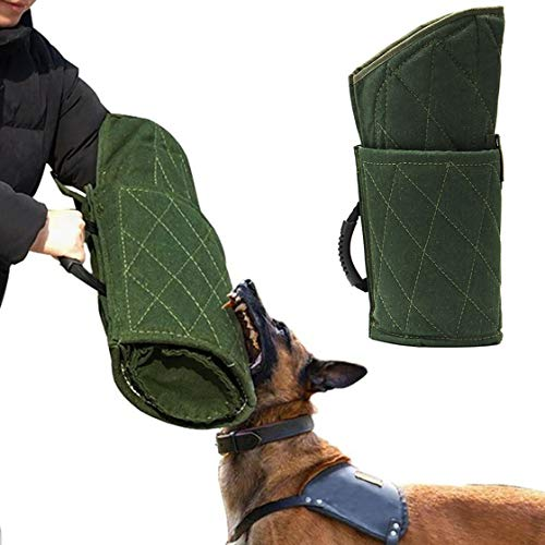 Dog Bite Sleeve Training Protection, Fits Both Sleeves, Small Dogs Training Biting Tugging Toy - Green