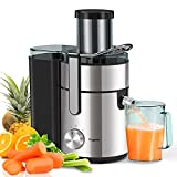 Bagotte Large Juicer Machines,1000W, 85mm Wide Mouth Centrifugal Juicers Easy Clean Juice Extractor for Whole Fruit Vegetable, Juicer Recipe Book & Brush Anti-drip Dual-Speed BPA-Free