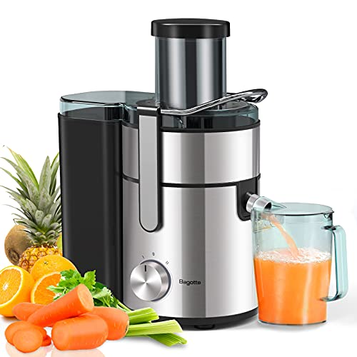 Bagotte Large Juicer Machines,1000W, 85mm Wide Mouth Centrifugal...