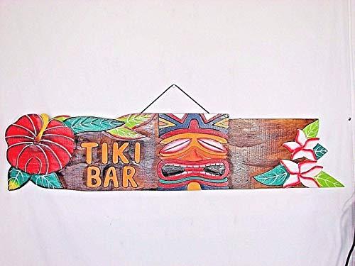 Stan256Nancy Tiki Bar Schild aus tropischem Holz mit Tiki-Motiv, 50,8 cm