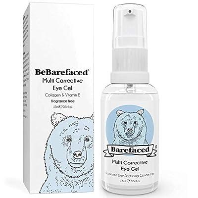 Eye Cream for Dark Circles & Puffiness - Natural Gel Treatment With Marine Collagen, Argan Oil & Vitamin E by Bebarefaced Ltd