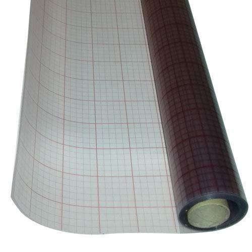 ASLAN Hart-PVC-Folie, transparent, selbstklebend, 0,30 mm stark (60 cm x 1 Meter)