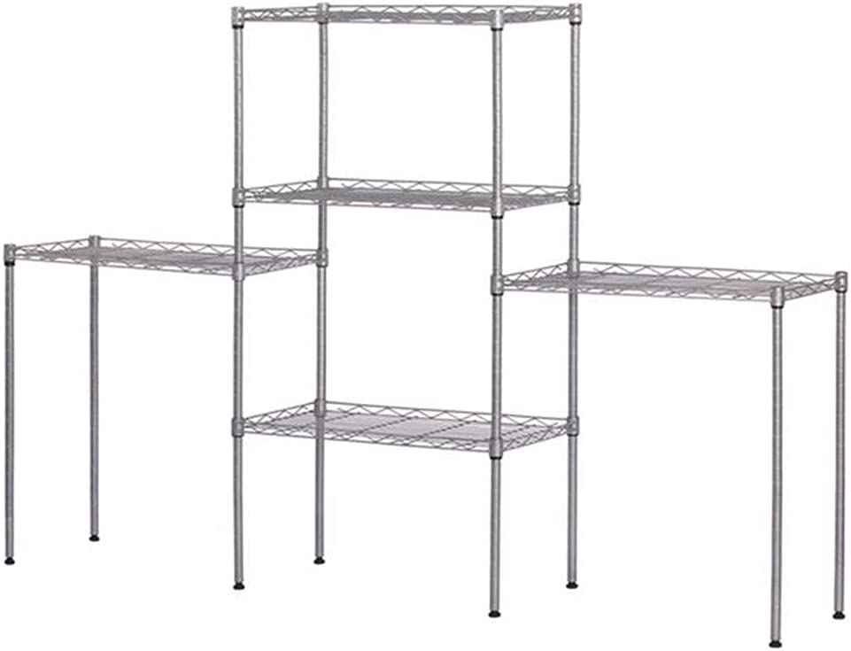 Evazory Metal Standing Rack Storage Shelf Organization Our shop OFFers the 2021new shipping free shipping best service Kitch for