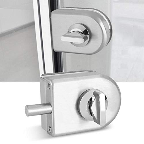 Fijnere glazen deurslotvergrendeling Draaiknop Roestvrijstalen glazen deur Open close Home Hotel Badkamer Gebruik 10 mm ~ 12 mm dikte Goedkope prijs