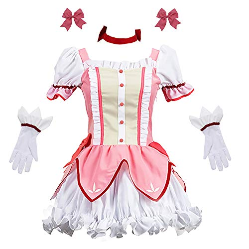 Zhengyun Anime Puella Magi Madoka Magica Cosplay Kostüm Madoka Kaname Kleid Schuluniform Outfit Party Halloween Karneval Kostüm Anzug für Mädchen Frauen