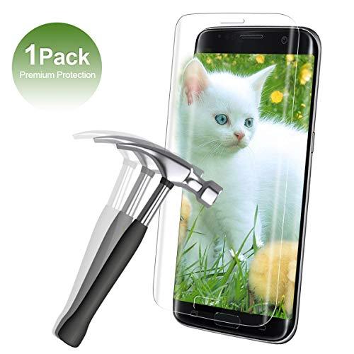 Panzerglas Schutzfolie für Samsung Galaxy S7 Edge[1 Stück],9H Ultra-klar Bildschirmschutzfolie,[3D R&][Anti-Öl/Anti-Fingerabdruck/Kratzfest/Blasenfrei]Leicht Anzubringen Panzerglasfolie-Transparent