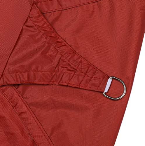 Yumhouse rechteckige UV-Baldachin,Polygonale wasserdichte Sonnenschutz Segel-Achat rot_3x5 m,Sonnensegel Wetterschutz wasserabweisend