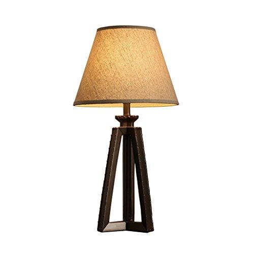 Lampes de table Interrupteur d'alimentation Antique Résine ajourée Creative Chambre Lampe de Chevet Chaude et Romantique Lampe de Bureau en Tissu E27 63 * 33 cm (25 * 13 Pouces) A+