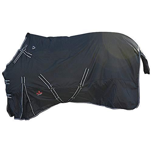 HILASON 48 in 600D Waterproof Turnout Miniature Horse Winter Blanket Black