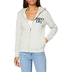 Superdry Embroidered Serif Loopback Zip Hoodie