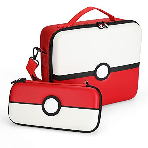 Funda para Transportar la Nintendo Switch, diseño de Pokemon, lindo y de lujo, Funda Dura de Viaje para Llevar la Nintendo Switch y Sus Accesorios