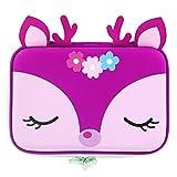 Rockpapa High-Capacity Deer Pencil Case, Pencil Box, Storage Box for School Students Girls Teens Kids Toddlers Hot Pink