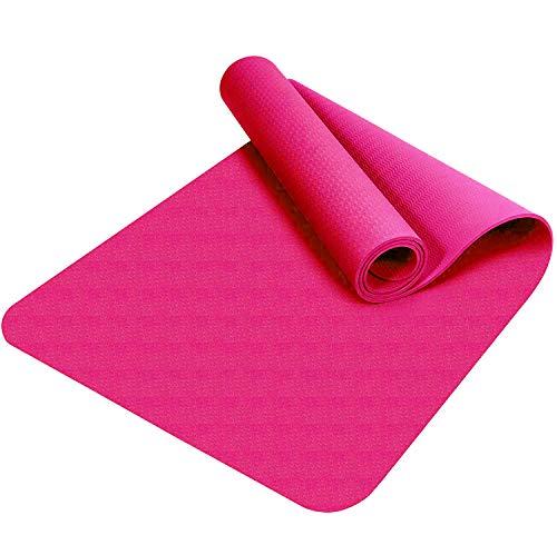 Good Times Yogamatte, rutschfest, TPE, umweltfreundlich, hypoallergen, hautfreundlich, Gymnastikmatte, Fitnessmatte, Sportmatte, Bodenmatte mit Tasche...