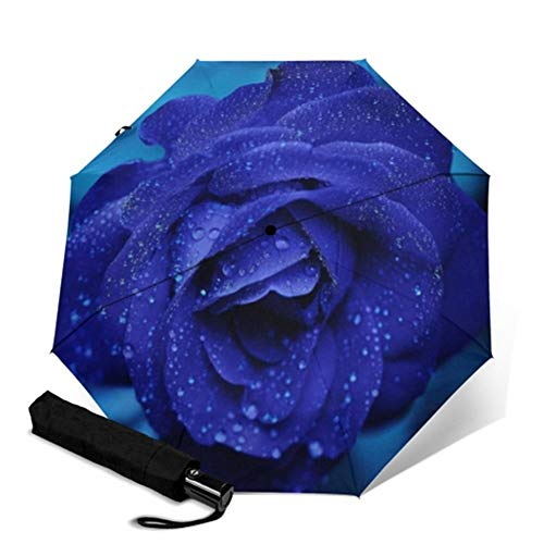 N\A Umbrella Travel automática - Paraguas clásico Floral de la Flor Completa de impresión automática Parapluie Rainy portátil Plegable Paraguas a Prueba de Viento Hombres Mujeres Paraguas
