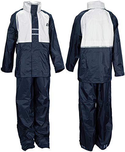 Ralka 43SF Vêtements de Pluie Enfant, Bleu Marine/Blanc cassé, Size 140
