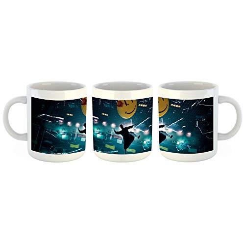 Unified Distribution Watchmen - Smilie - Tasse mit Motiv Bedruckt, 300ml C-Henkel. Tolles Geschenk für Büro, Küche, Geburtstag, Lieblingstasse zum Frühstück