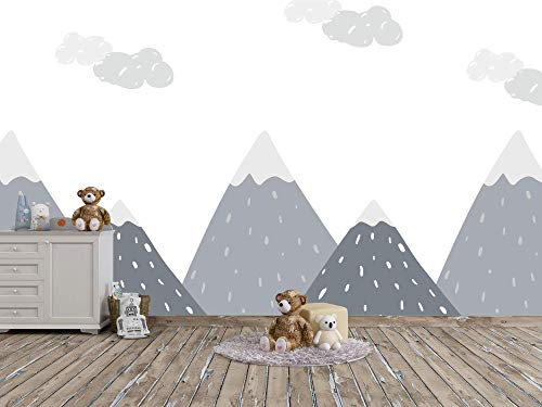 Oedim Fotomural Infantil Vinilo para Pared Paisaje Montañas | Mural | Fotomural Vinilo Decorativo | 200 x 150 cm | Decoración comedores, Salones, Habitaciones