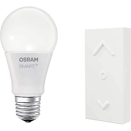 OSRAM Smart+ Kit Télécommande Mini Switch + Ampoule LED Connectée   E27   Forme Standard   Dimmable   16 Millions de couleurs   10W (= 60W)   Zigbee - Compatible avec Amazon Echo Plus et Show (2G)