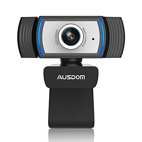Webcam Full HD 1080P for PC, AUSDOM AW33 Streaming Webcam with Microphone,...