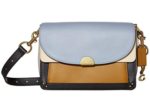 Price comparison product image COACH Color Block Dreamer Shoulder Bag Mist Straw Multi / Brass One Size