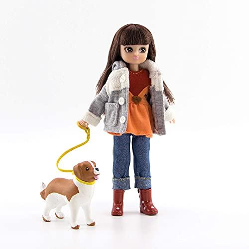 Lottie Doll Walk in The Park | Eine Puppe für Mädchen & Jungen mit Puppenhund | Modepuppe für Herbst | Winterpuppe mit Stiefeln und Puppen-Fleecejacke mit süßen Ohren | LOT158