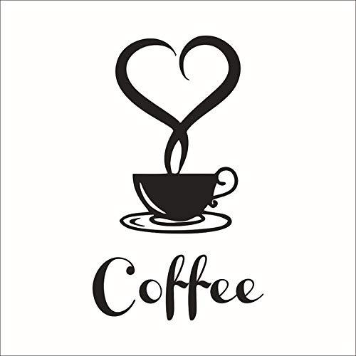 N / A Accesorios para el hogar Tazas de café pegatinas de pared en la cocina vinilo arte pegatinas de pared adhesivo papel pintado decoración de la habitación decoración del hogar cocina