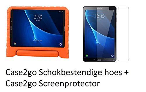 Funda para Samsung Galaxy Tab A 10.1 (2016/2018) – Peso ligero a prueba de golpes – Funda para niños + protector de pantalla – Naranja