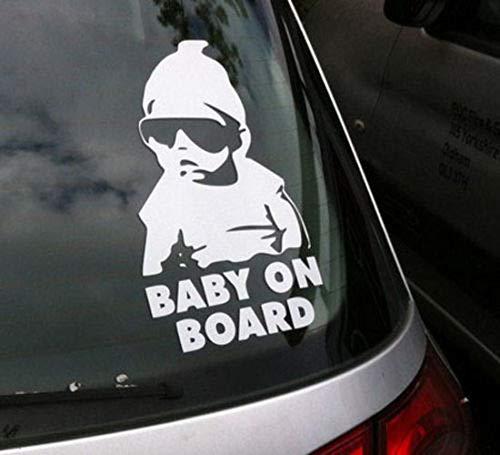 Auto Aufkleber Baby An Bord Hübscher Junge Fenster Auto Styling Abnehmbare Aufkleber Auto Kostenloser Versand 6X19 Cm