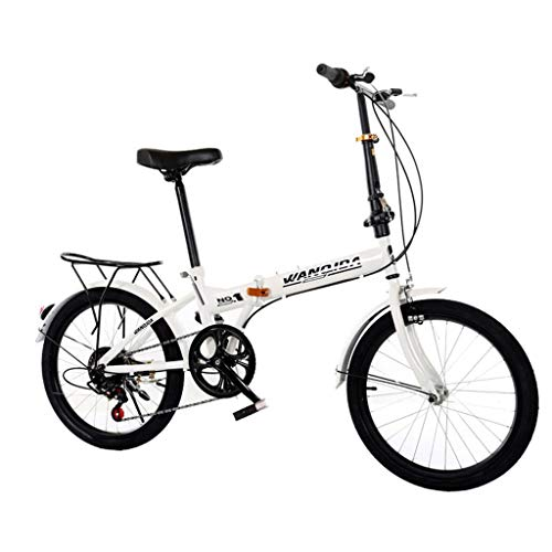 20 Inch Folding Mountain Bike,7 Speed Mini Compact Bicycle for Adult Men and Women Teens,Lightweight Foldable Bikes for Student Office Worker Urban Commuters,Aluminum Folding Frame (from US, Sliver)