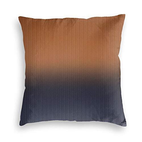 Fundas de cojín de terciopelo con diseño de espiga digital, color azul marino y marrón óxido, fundas de almohada cuadradas para sofá, dormitorio, coche, con cremallera invisible, 45,7 x 45,7 cm