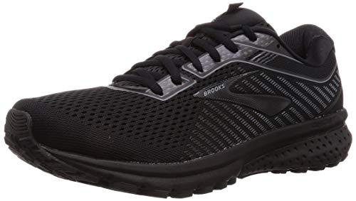 Brooks Mens Ghost 12 Running Shoe - Black/Grey - D - 13.0